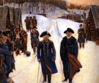 George Washington and General Friedrich von Steuben