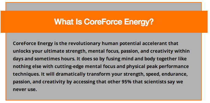 peak performance sports accelerator - CoreForce Energy